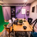 Rent Podcast Studio: Acoustically-Treated Podcasting Studio Formatted With Three Possi