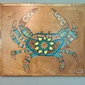 Selling with online payment: Crab Painting/Wood Burn