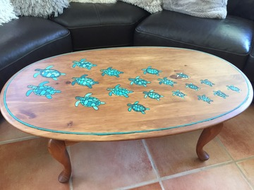 Selling with online payment: Coffee Table with Turtle Design