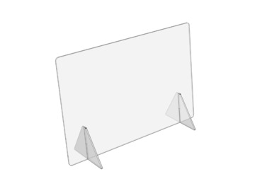 "Products for Sale: Small Sneeze Guard | Horizontal 23.5"" W x 17.5"" H"