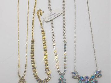 Buy Now: 250 PIECE RHINESTONE NECKLACE HIGH QUALITY MIX LOT COLORS/ETC
