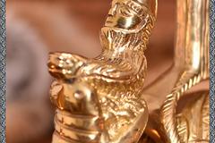 Selling with right to rescission (Commercial provider): Replika af en rigtig middelalderlig lysestage