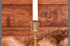 Verkaufen mit Widerrufsrecht (Gewerblicher Anbieter): Castiçal de bronze medieval