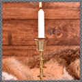Verkaufen mit Widerrufsrecht (Gewerblicher Anbieter): Mittelalterlicher Kerzenhalter aus Messing