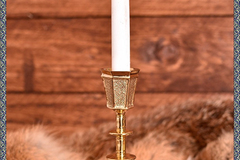 Selling with right to rescission (Commercial provider): Medieval brass candle holder