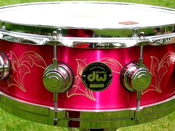 Show Off Your Drums! (no sales): DW engraved Bell Brass one-of-a-kind snare drum