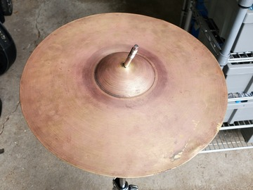 """Selling with online payment: Ludwig Vintage (20s) 12"""" heavy spun brass cymbal"""