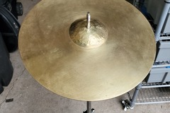 "Selling with online payment: Vintage Spun Brass 13"" cymbal. hammered bell. No brand"