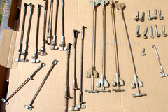 Selling with online payment: Assorted Pre-war Tension rods and claws