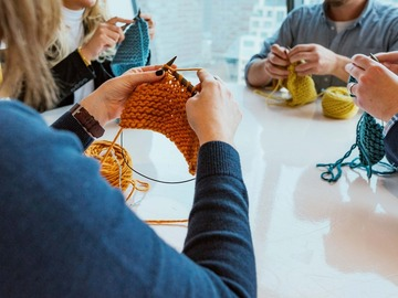 Workshops & Events (Per hour pricing): Knitting for the Workplace