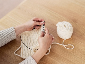Events priced per-person: Virtual Knitting Class