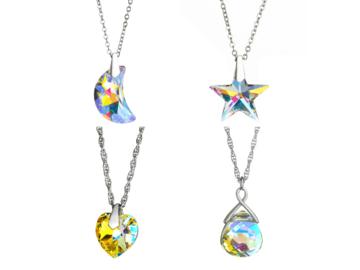 Buy Now: 50 pcs Swarovski Elements Necklaces Heart ,Star, Moon ,Briolette
