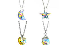 Compra Ahora: 50 pcs Swarovski Elements Necklaces Heart ,Star, Moon ,Briolette
