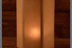 Verkaufen mit Widerrufsrecht (Gewerblicher Anbieter):  Mittelalterliche Laterne aus Holz mit Rohhaut