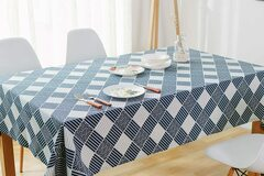 Buy Now: NorthShore Linen Cotton Geometric Design Table Cloth (60″ X 84″)