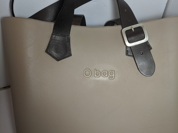 Other Item: (SOLD) Genuine Beige and Leather Buckle Handle O Bag
