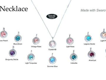 Buy Now: 50 pcs Assorted Halo Necklaces New + Hottest Swarovski Colors
