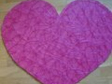 Ilmoitus: Iso sydän -kyltti kovalla pohjalla (50x60cm)