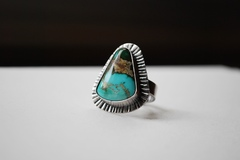 Selling: Land and Sea - Sterling and Turquoise Ring