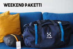 Vuokrataan (viikko): Haglöfs Cargo 90 l & Halti Smart travel matkamakuupussi