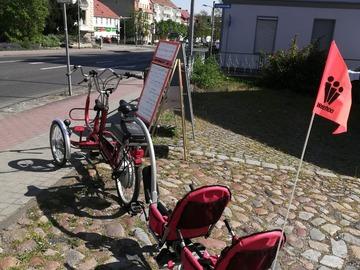 Tandemverleih: Co Pilot Tandem E bike Dreirad