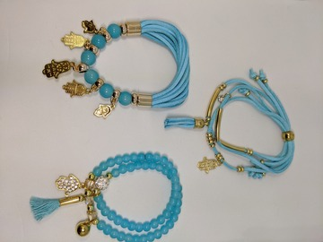 Buy Now: Ombeads bracelets 60 sets of 3 with free gift bag