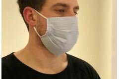 Buy Now: 50 Designer Fabric Reusable Masks Pleated