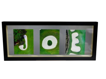Selling with online payment: Golf Letters Float Frame