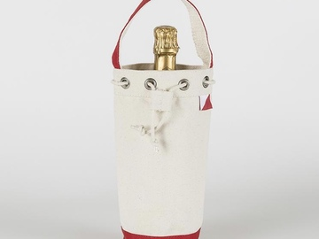 Selling with online payment: Canvas Champagne Wine Bag