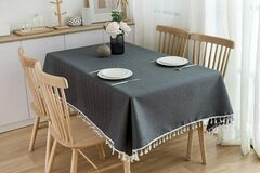 Buy Now: NorthShore Linen Cotton Dark Grey Table Cloth (60″ X 84″)