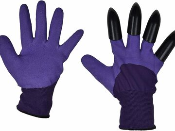 Buy Now: Poppybest Pair Of Garden Gloves With Claws – Waterproof – Purple