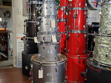 Selling with online payment: Pearl EXR 6 pc drum set gun metal sparkle lacquer  REDUCED!
