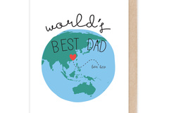 : World's Best Dad Card