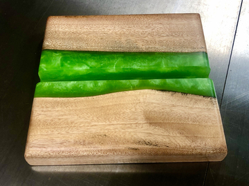 Selling with online payment: Cuban Mahogany and Poison Apple Epoxy iPad/iPhone Stand