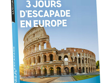 "Vente: e-coffret Wonderbox ""3 jours d'escapade en Europe"" (99,90€)"