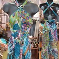 Selling with online payment: Featherlight Peacock Dress/Cover-up