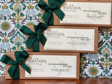 Selling with online payment: Plantopia 3-Bar Handcrafted Soap Gift Box