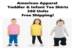 Compra Ahora: American Apparel Infant & Toddler Tee Shirts, New, Free Shipping