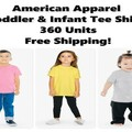 Buy Now: American Apparel Infant & Toddler Tee Shirts, New, Free Shipping
