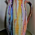 Selling with online payment: Hand Painted Vase by Linda Oliver Art
