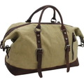 Compra Ahora: Classic Antique Style Cotton Canvas Medium Duffle Bags - Khaki