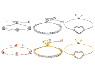 Buy Now: 50 pieces Slider Bracelets made with Swarovski Crystals