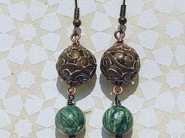 Selling with online payment: Seraphinite drop earrings