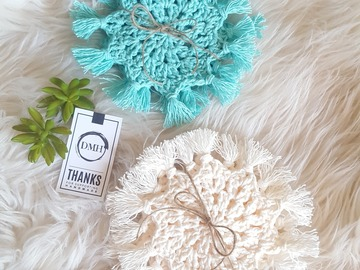 Selling with online payment: Boho Crochet Drinks Coaster Sets