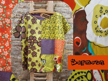 Sale retail: tunique blouse originale création unique et artisanale