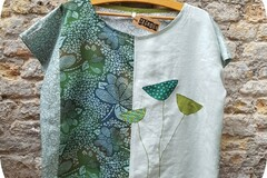 Vente au détail: Tunique court coton lin créateur
