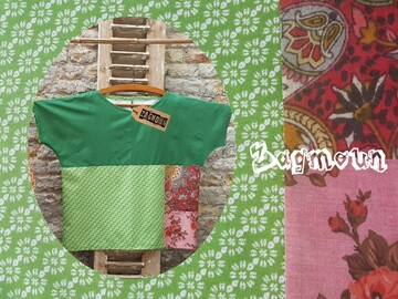 Vente au détail: Blouse tee-shirt coton création unique et originale
