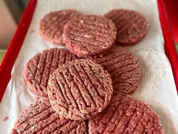Vente avec paiement en direct: Beef steak rond pur viande hachée