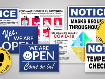 Products for Sale: Large Selection of Covid 19 Return to Work Signage