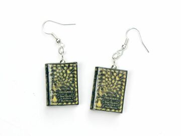 Selling with online payment: Pride & Prejudice Clay Mini Book Earrings